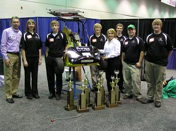 Innovative Vehicle Design participants and trophies