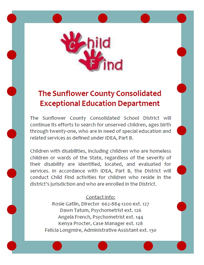 Exceptional Children and Health Services | Sunflower County CSD