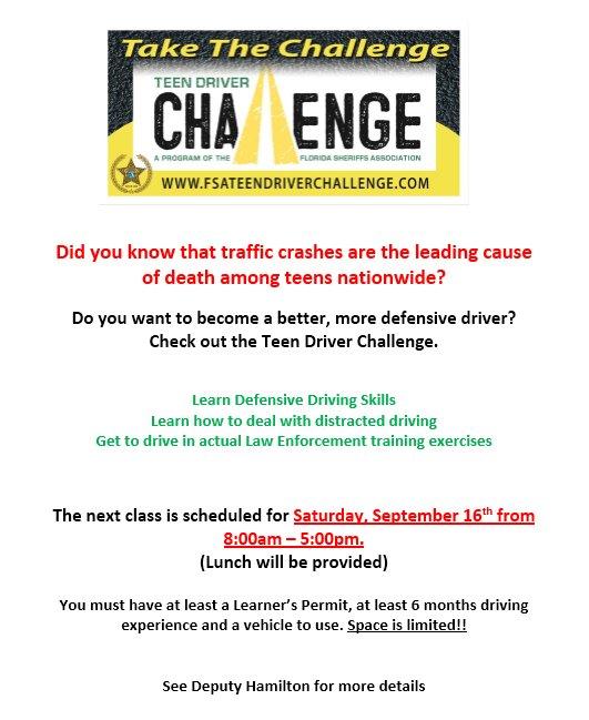 Teen Driver Challenge