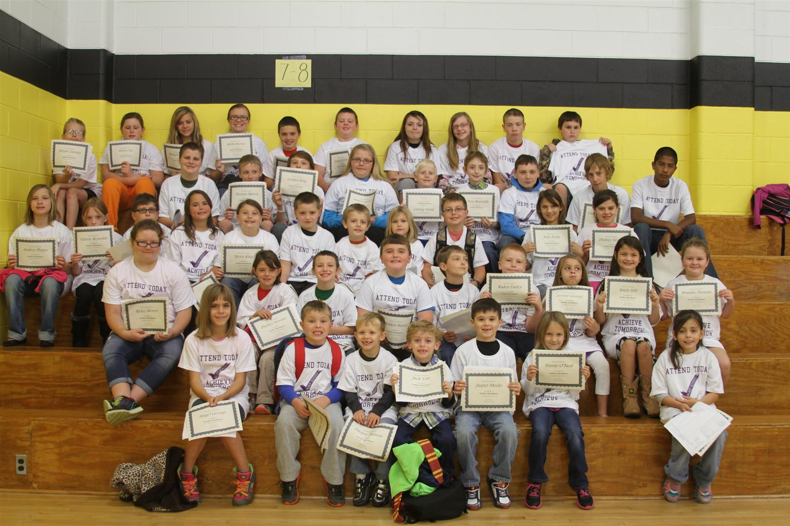 PELHAM September Perfect Attendance