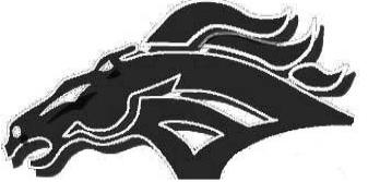 Overpark Elementary School Mustang Logo