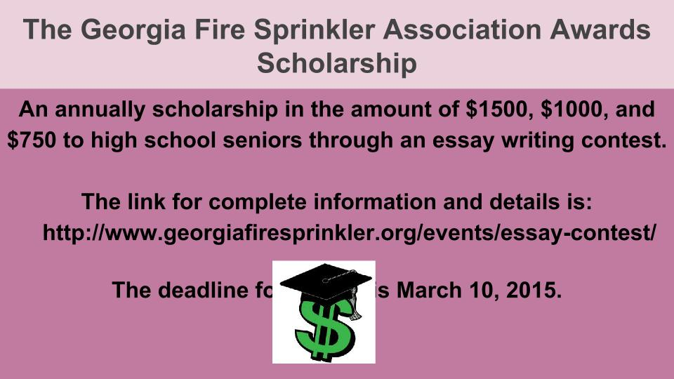 High School Personal Statement Sample Essays Coffee High School Latest News  Georgia Fire Sprinkler Association  Scholarship Application  Literary Essay Thesis Examples also Sample Business Essay Coffee High School Latest News  Georgia Fire Sprinkler Association  Essay On Business Management