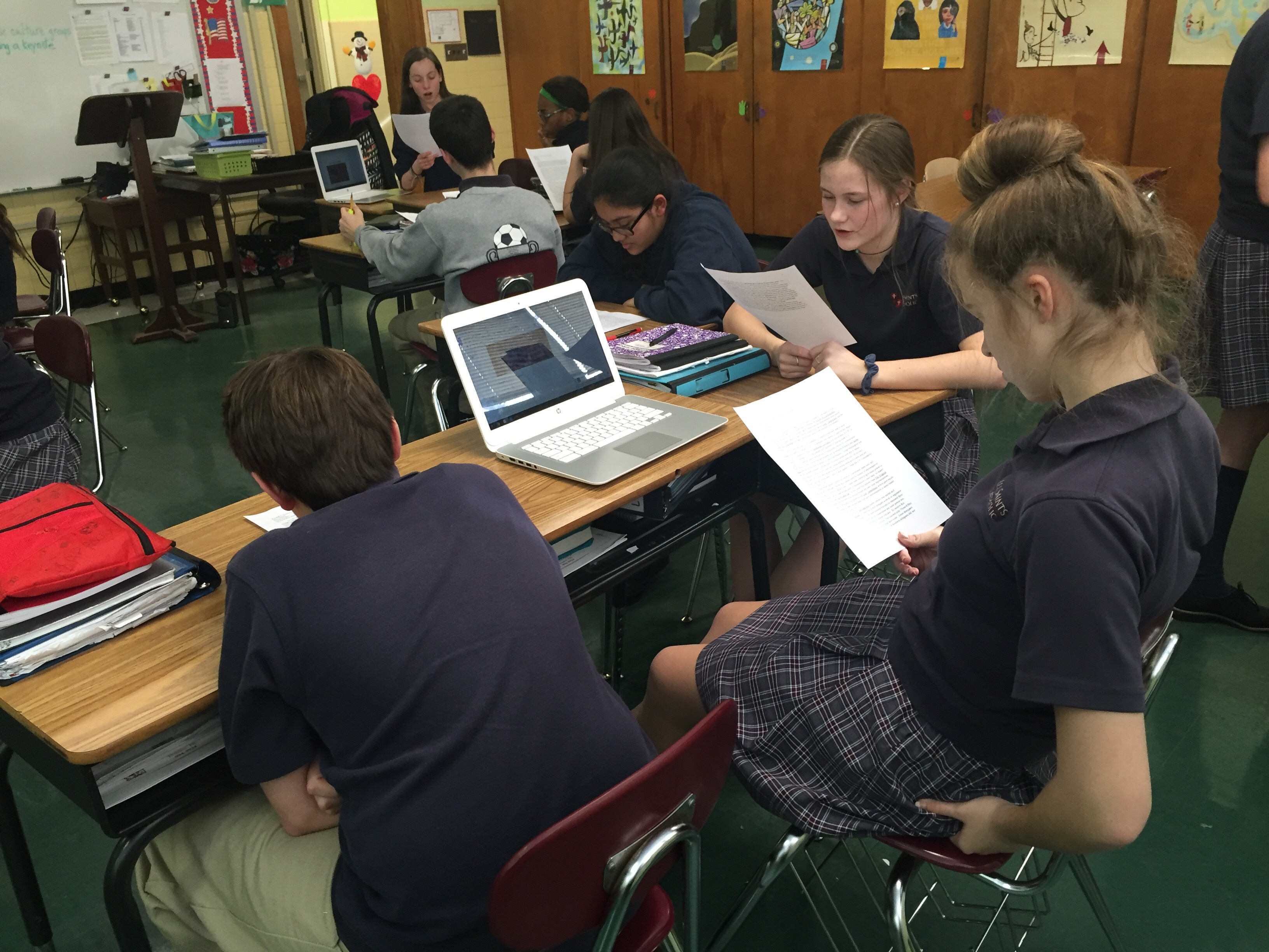 Student Group Work on Constitution Essay Jigsaw Project
