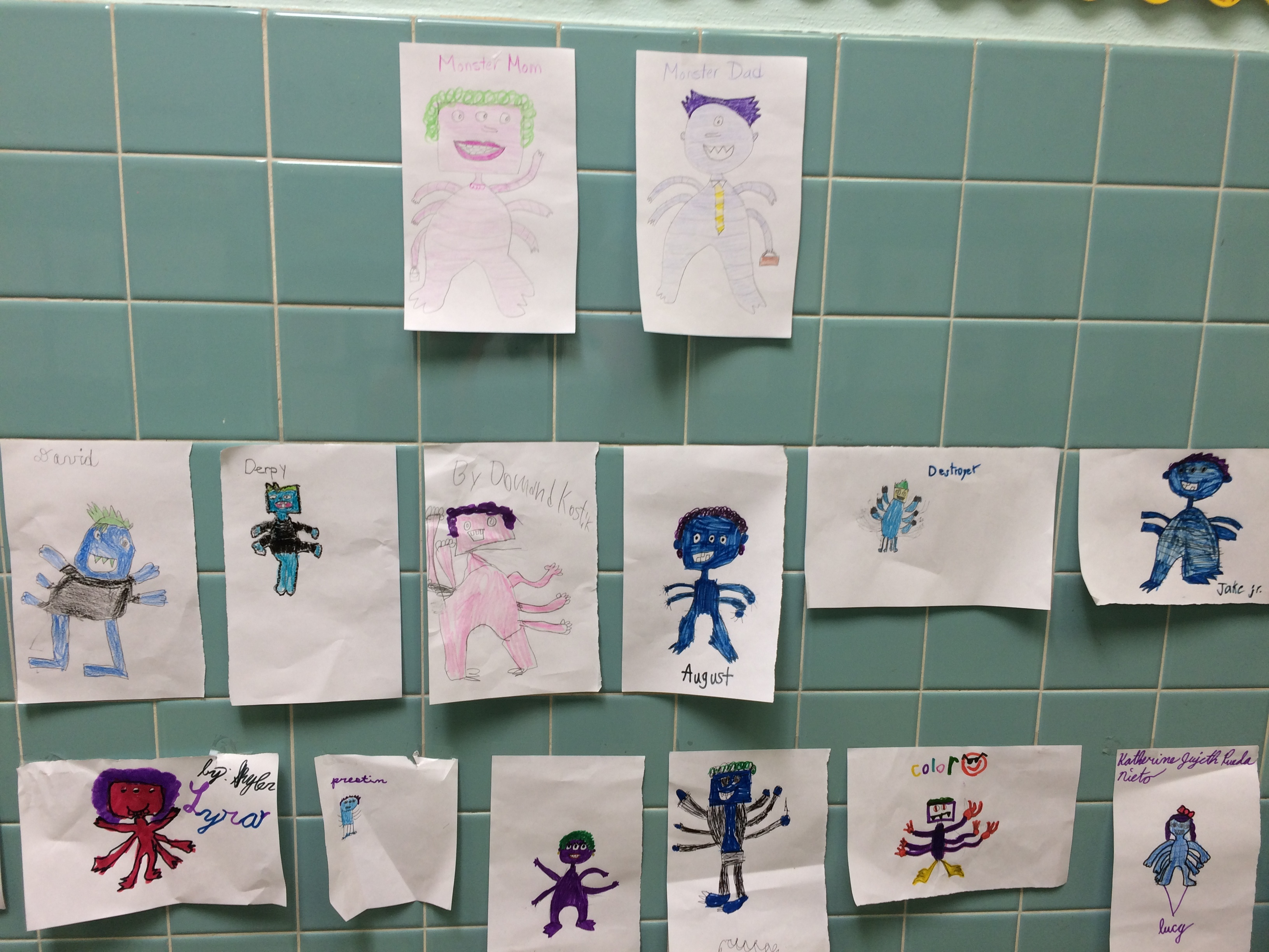 Studying inherited traits and were challenged to create offspring of two different monsters using specified traits.