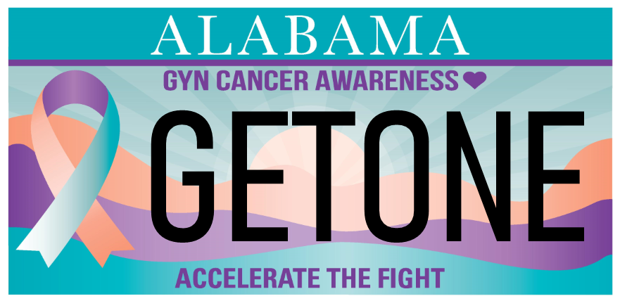GYN Cancer Awareness Car Tag