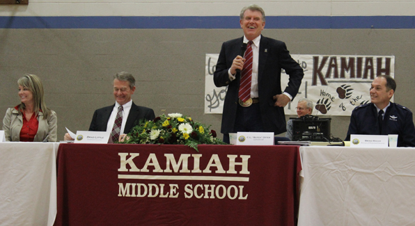 Governor Otter - Kamiah Capital for the Day
