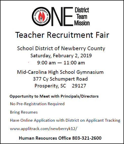 Teacher Recruitment Fair 2019
