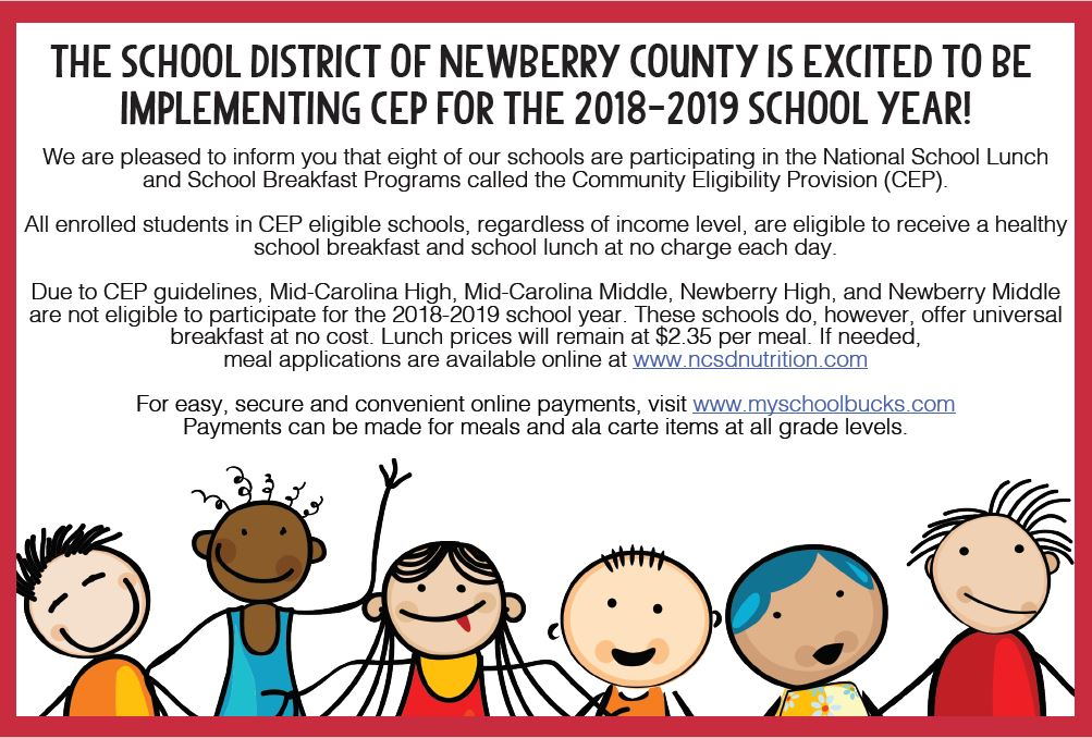 Announcement of National School Lunch.