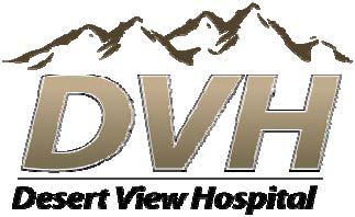 Desert View Hospital Logo for advertisement