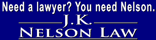 J. K. Nelson Law Logo for advertisement