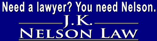 J. K. Nelson Law Logo for advertisement