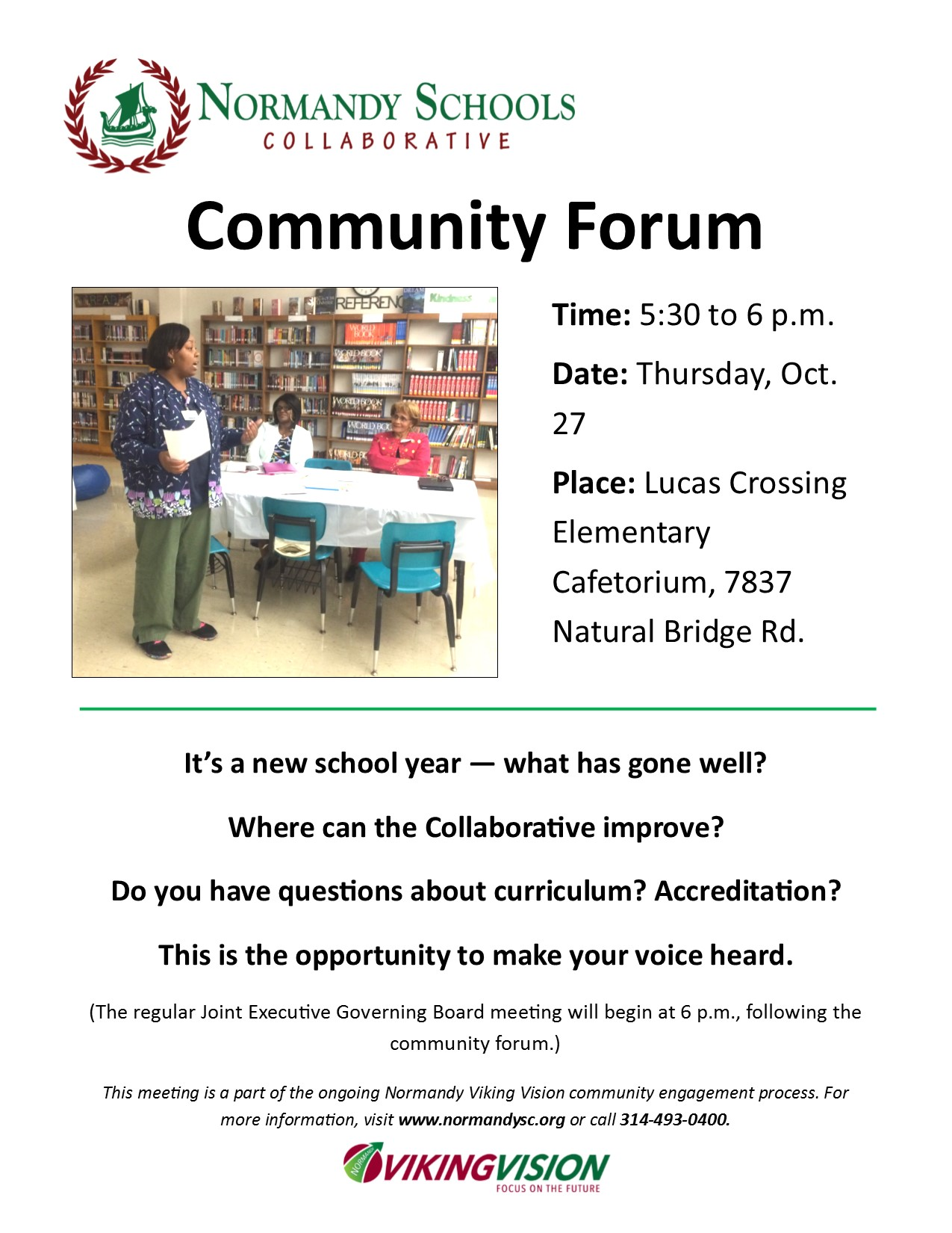 community forum flier