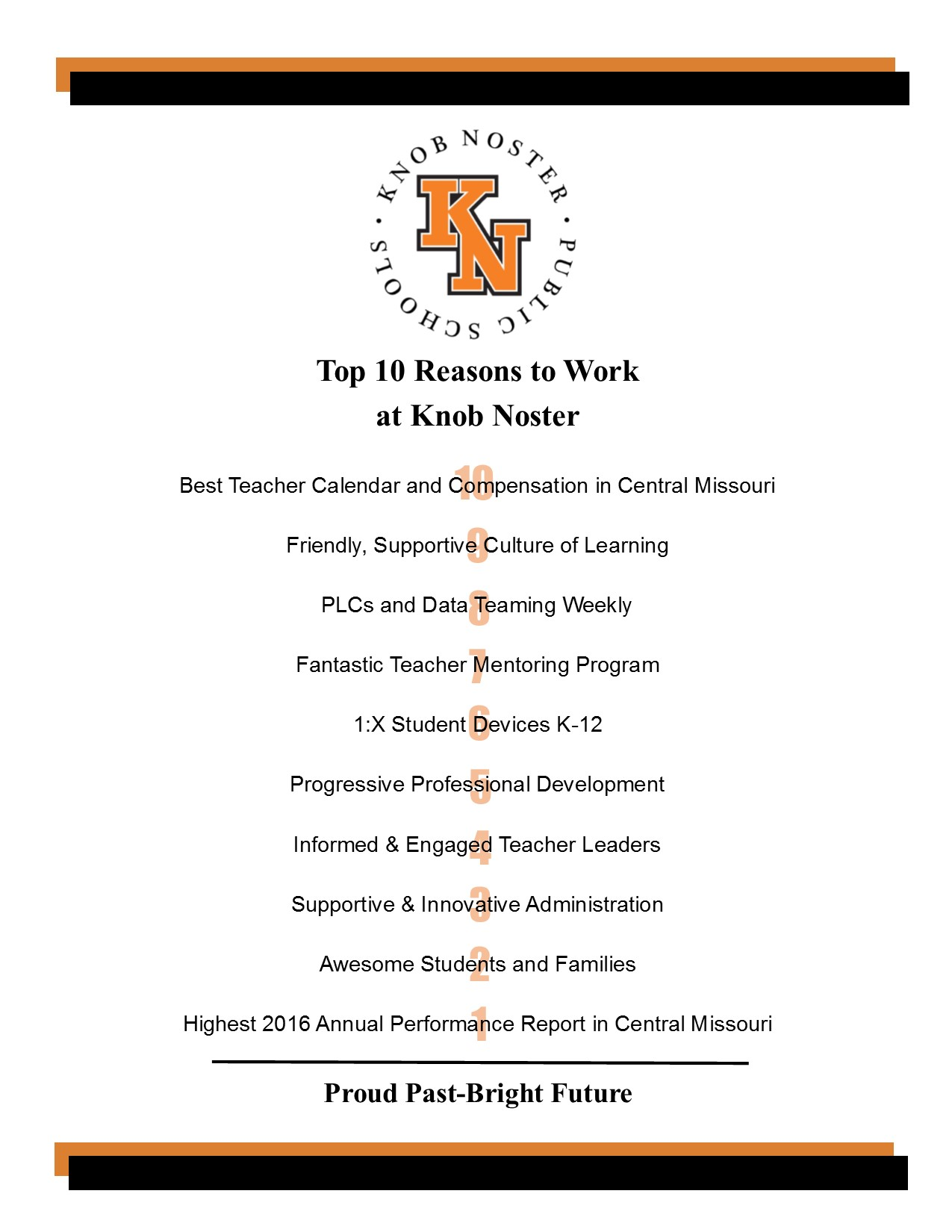 Top 10 Reasons to Work at Knob Noster