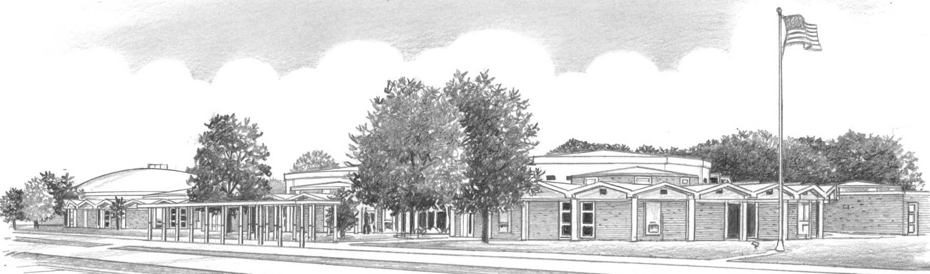 Drawing of Central High School