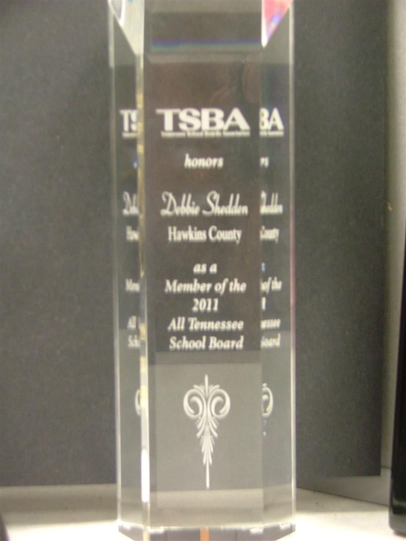All Tennessee School Board Award