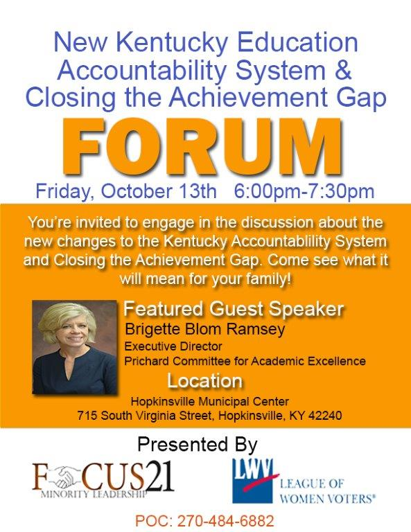 Acheivement Gap Forum Oct. 13