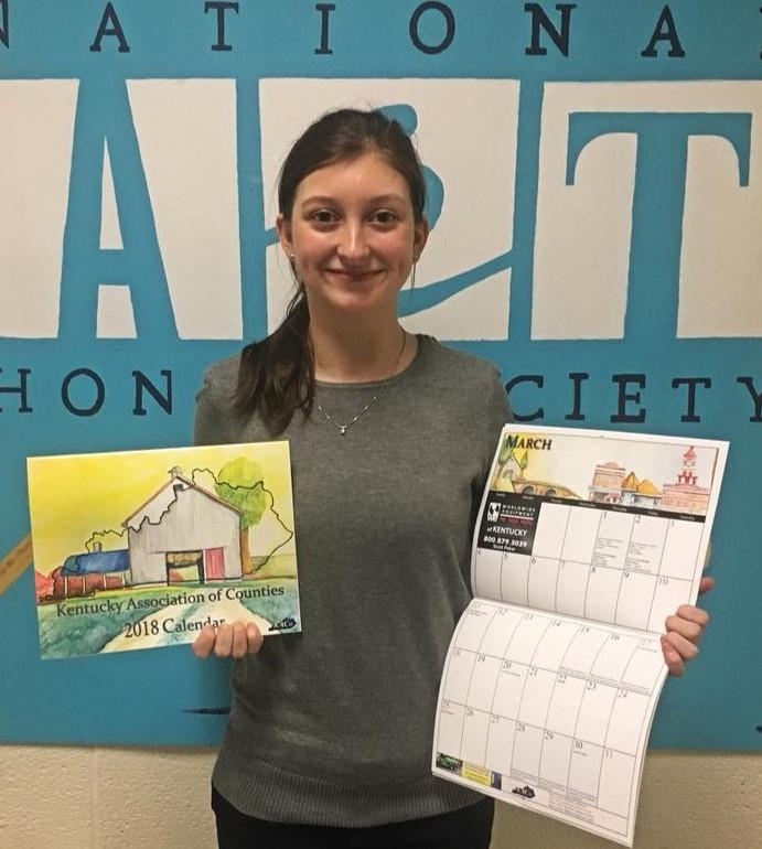 Hopkinsville High School Cchs Student Wins Calendar Art Contest