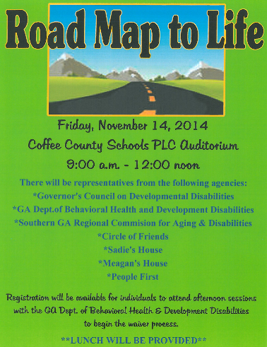 Road map To life Flyer