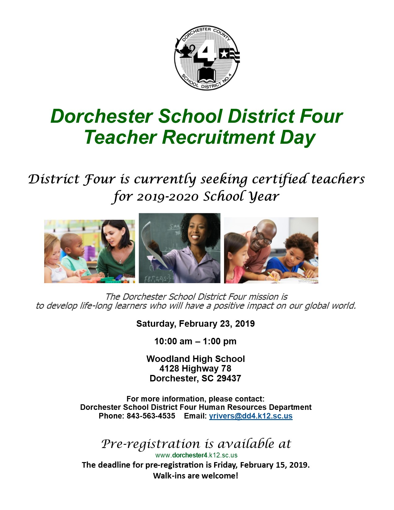 Human Resources Dorchester County School District 4