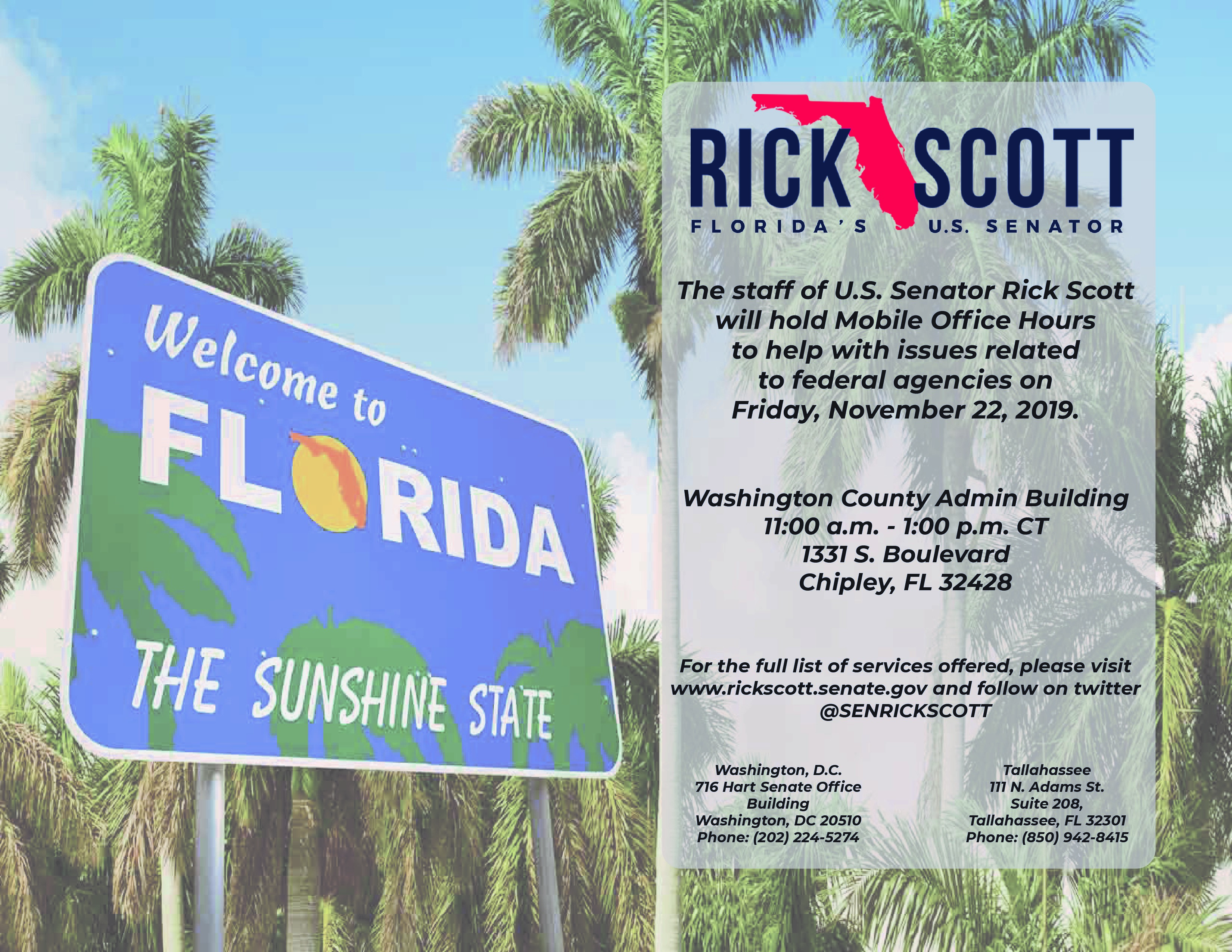Photo with Senator Rick Scott Announcement