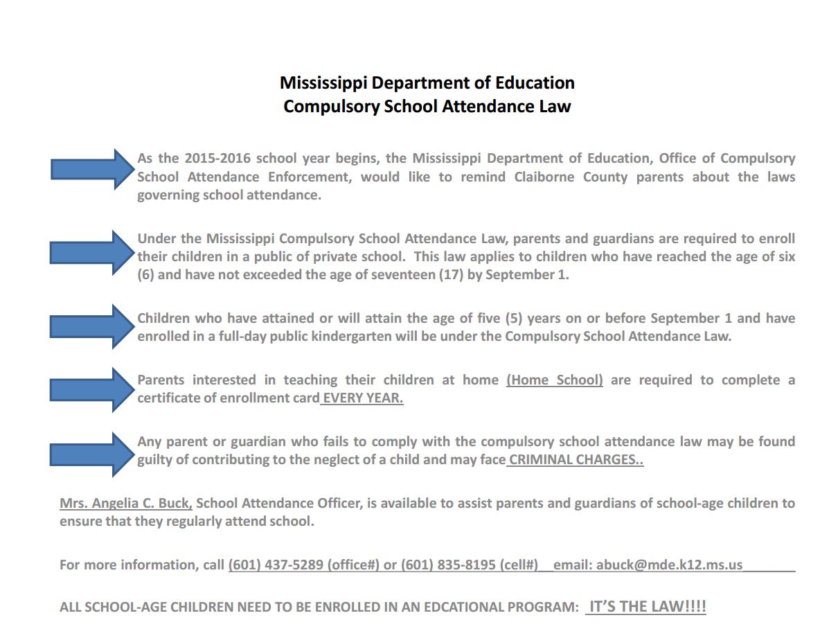 School Attendance Law