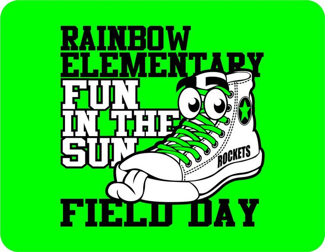 Rainbow Elementary School Latest News Field Day T Shirt
