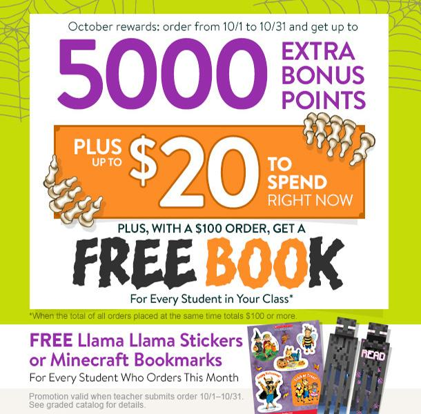 Announcement Image for Scholastic Book Orders
