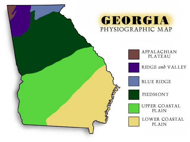 Beth Chappelears Projects - Georgia map fall line