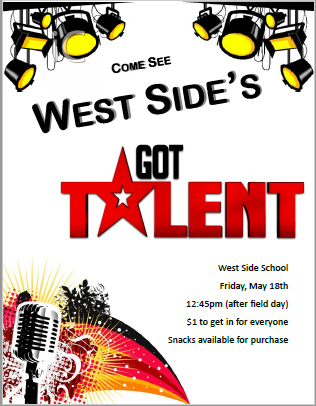 Announcement Image for Talent Show 2018