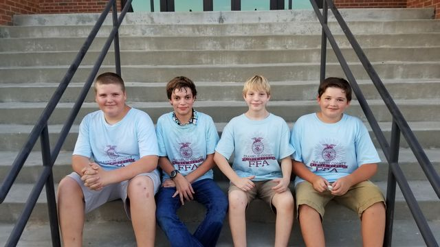 FCMS FFA ENR team members Jacob Keese, Johnathan Lockhart, Conner Anderson and Zach Martin