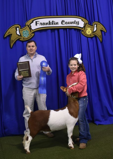 Jr. Goat Showmanship Champion Carlie Christian