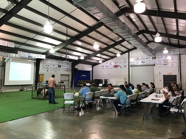 Teachers from across the state gathered at the Franklin County Agriculture Center for a Livestock Nutrition, Fitting and Showing for Sheep, Goats, Swine and Cattle Workshop