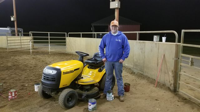 FCMS FFA Lawnmower Operations competitor Braxton Bridges