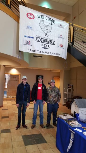 FCMS FFA members Jesse Porter, Liam Ford and Zabian Atkinson attended Poultry 101 Day at North Georgia College