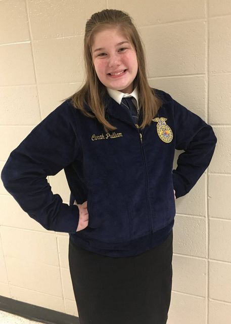 FCMS FFA Creed Speaking Member Carah Pulliam