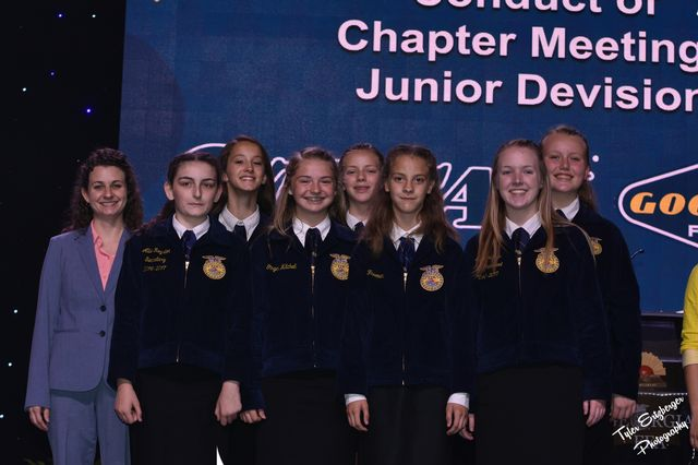FCMS FFA Conduct of Chapter Meeting Team placed 2nd in state competition.