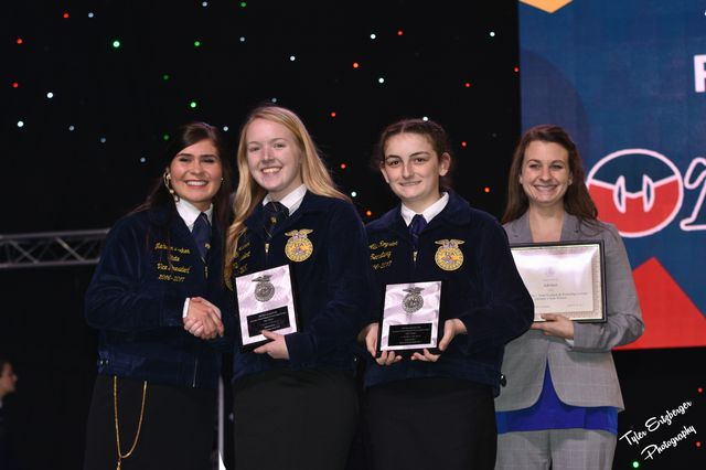 Grace Adcock and Allie Royston were recognized on stage as State Agricience Fair Champions
