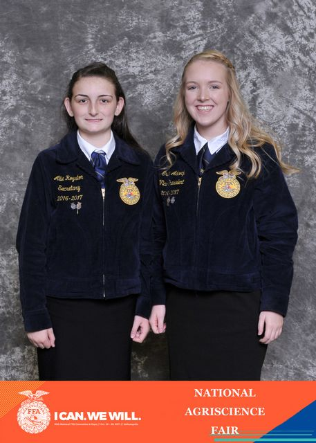Agriscience Fair Allie Royston and Grace Adcock 2nd in the Nation