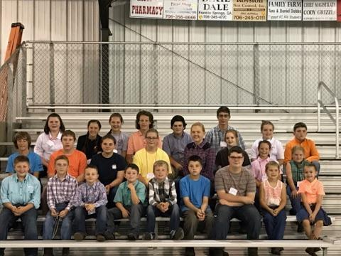 2017 Franklin County 4-H and FFA Goat Camp Participants