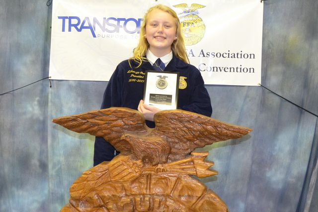 Makenzie Godwin State Agriscience Champion Power Structural Technical Systems Division 1