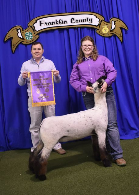 Grand Champion Breeding Ewe exhibited by Victoria Wright