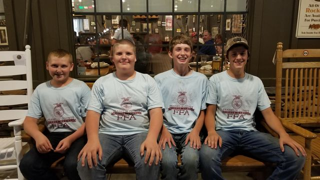 FCMS FFA Land Evaluation Team members Preston Busby, Jacob Keese, Jesse Porter, and Liam Ford