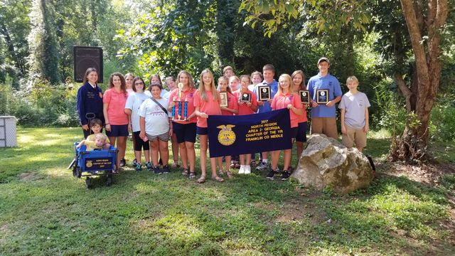 FCMS FFA named Middle School Chapter of the Year for the 10th consecutuve year