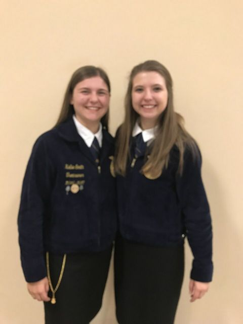 Kellie Smith and Christa Anderson of the Franklin County FFA chapter served as voting delegates during the 90th National FFA Convention