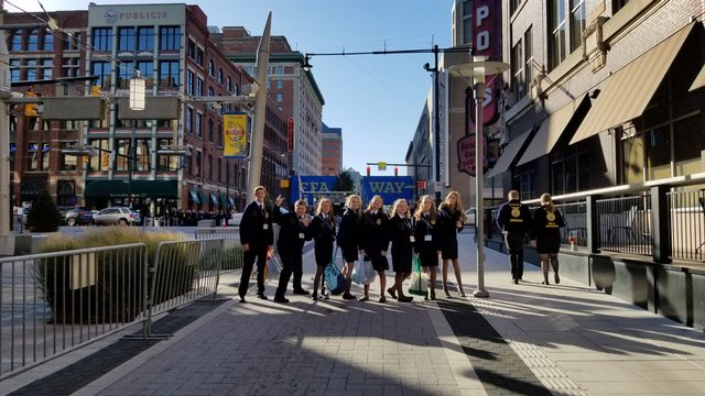 Middle School FFA Officers attended the 90th National FFA Convention in Indianapolis, IN