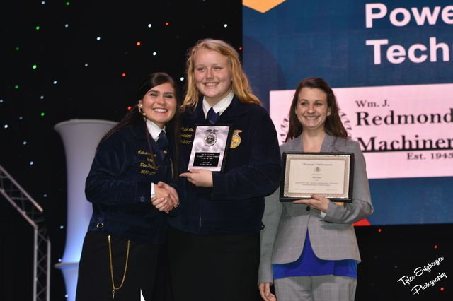 Makenzie Godwin was recognized on stage as a State Agriscience Fair Champion