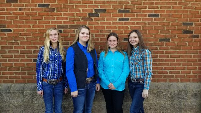 FCMS FFA Horse Evaluation Team Massena Rousey, Gracie Minyard, Kelsie Chapman, and Sydney Allen