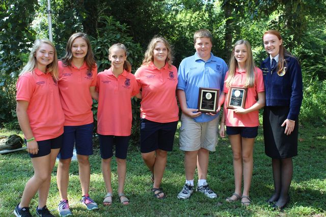 FCMS FFA Officer Team named top middle school team in the Opening Ceremonies Contest
