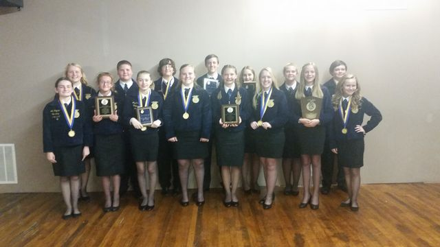 FCMS FFA brought home many awards from the Area II FFA Banquet on May 11