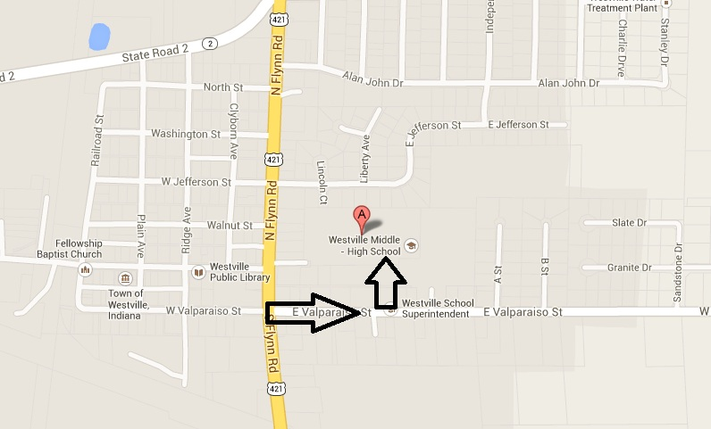 Westville Indiana Map.Westville Middle High School Directions